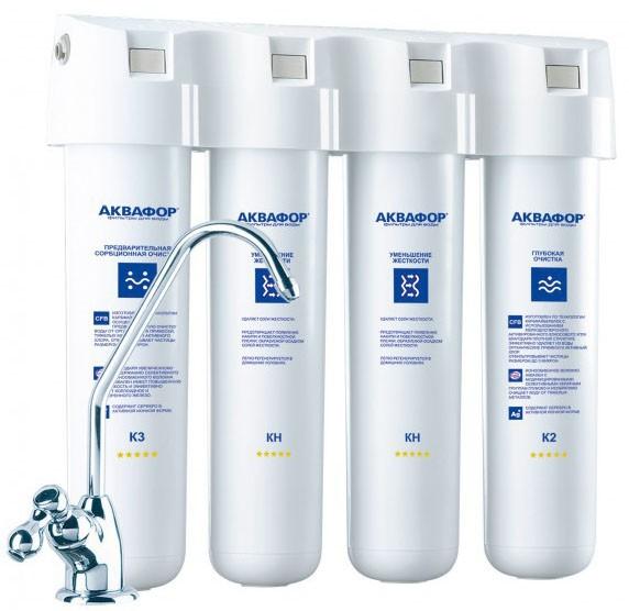 Фильтр для питьевой воды Аквафор Кристалл Квадро 2Н