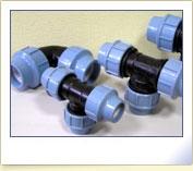 Зажимные фитинги для монтажа водопроводных систем из ПЭ труб, диаметры 16-110