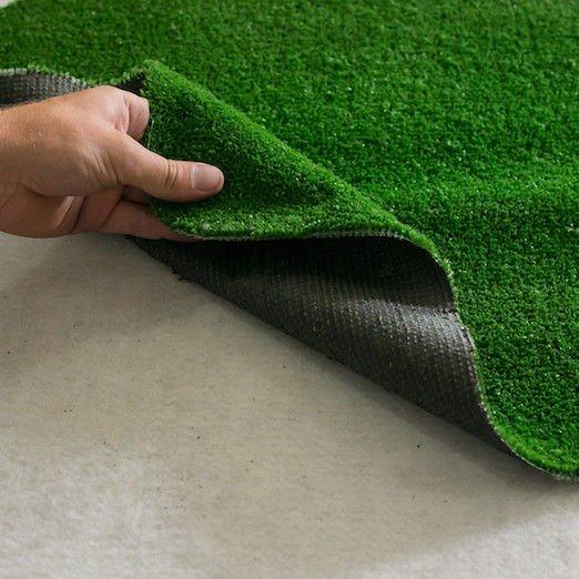 Фото  1 Ковролин искусственная трава толщина 8мм высота ворса 6мм ширина 1м, 1,5м, 2м, 2,5м, 3м, 4м и 5м 1265758