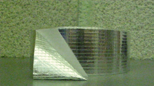 Фольга алюминиевая армированная 25 мкм 50мм*50м