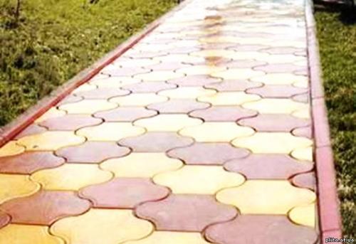 Форма для производства тротуарной плитки Инь размеры :29,5*19,6 толщина:4,0 1 м2 - 27 шт.