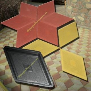 Форма для производства тротуарной плитки Ромб узорный р-р : 32,0*19,0 толщина :4,0 1м2 - 32 шт