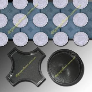 Форма для производства тротуарной плитки Рондо малое (1,2,3,4,5,6) толщина :6,0