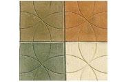 Форма для производства тротуарной плитки С кругами размеры:25,0*25,0 толщина: 2,5 1м2 - 16 шт