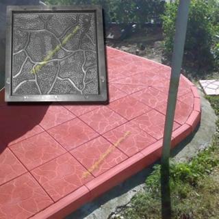 Форма для производства тротуарной плитки Тучка р-р : 30,0*30,0 толщина :3,0 1м2 - 11,1 шт