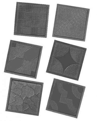 Формы для производства тротуарной плитки 300х300х30мм