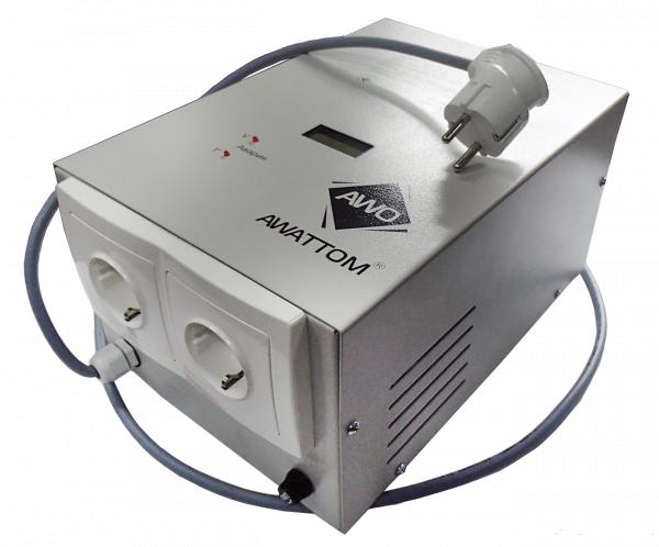Фото  1 Стабилизатор напряжения однофазный Awattom СНОПТ-2.2 10А 2,2кВА 1975480