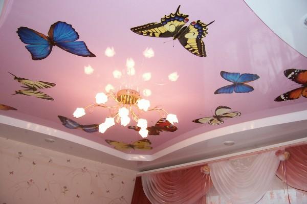 Фотопечать на натяжных потолках, арт потолки, декоративные потолки. Любое изображение на Вашем потолке. Звездное небо