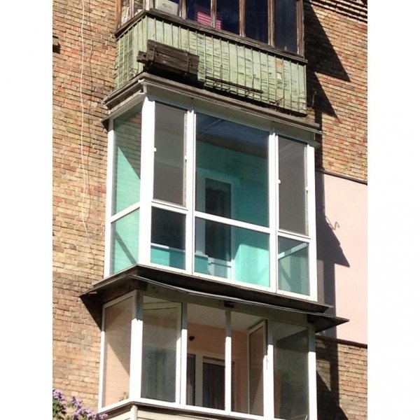 Французский балкон с тонировкой