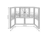 Французский балкон в немецком профиле класса А