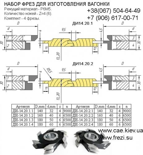 Фрезы для вагонки. Гост пазовые фрезы имеют наружные диаметры 125, 160, 180, 200, 220 мм и ширину