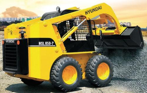 фронтальный погрузчик Hyundai HSL 850-7 (грузоподъемность 840 кг, ширина режущей кромки 1894 мм);