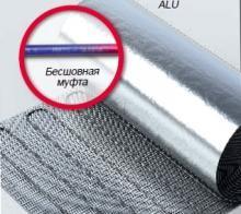 Фторопластовый двужильный алюминиевый мат Hemstedt ALU 100Вт/м2 под ковролин, ламинат 1 м2 ПОД ЗАКАЗ