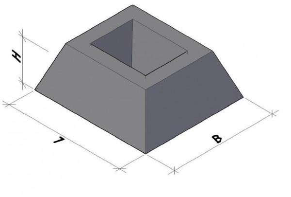 Фундамент панели ограждения ФЗП 1-2