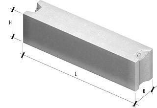 Фундаментный блок ФБС 24.5.3-Т размер 2380х500х280мм