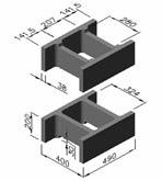 Фундаментный блок (несъемная опалубка) для устройства фундаментов домов.