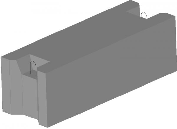 Фундаментный блок железобетонный - бетонные блоки ФБС 12.3.3-Т - ФБС 12.4.3-Т - ФБС 12.5.3-Т - ФБС 12.6.3-Т