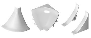 Фурнитура для галтели НАР20, ВН20(заглушка левая и правая, угол внутренний и угол наружный)цвет белый, черный, серебро