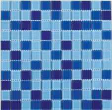 плитка мозаика Fusion Blue 300x300x4мм
