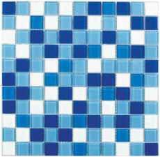 плитка мозаика Fusion Blue Mix 300x300x4мм