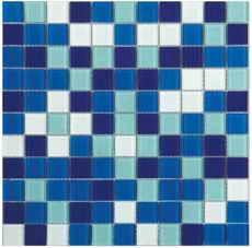 плитка мозаика Fusion Deep Blue 300x300x4мм