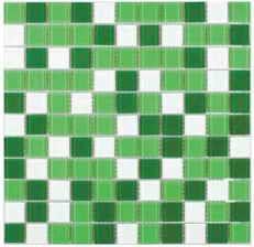 плитка мозаика Fusion Green mix 300x300x4мм