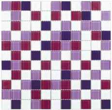 плитка мозаика Fusion Viola Mix 300x300x4мм