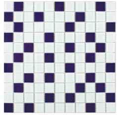 плитка мозаика Fusion White Blue 300x300x4мм