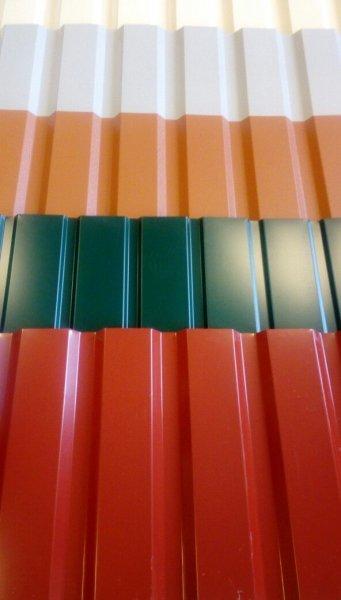 Фото  1 профнастил от производителя цинк/зеленый/синий/коричневый/вишня 1444846