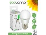 Фото  1 Светодиодная лампа-шарик ECOLAMP LED G45 E27 5Вт 500Лм с нейтральным светом 1958311