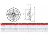 Фото  3 Осевой вентилятор Bahcivan BDRAX 200-2K 367220