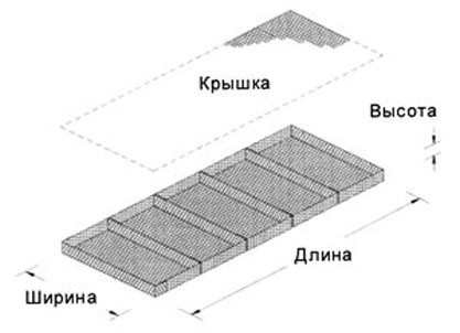 Габионный матрац: 3х2х0,23 м. Ячейка 8х10 см. Диаметр оцинкованной проволоки 2,7/3,4 мм.