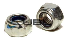 Гайка с контрящим кольцом из нейлона DIN 985