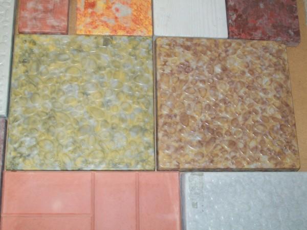 Галька большая размер 30,0*30,0 8 шт. на 1 кв. м толщина 3,5 см цвета:желтый, черный, красный, коричневый и мрамор