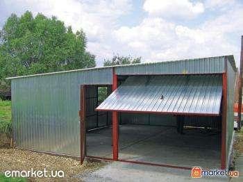 Гаражи Навесы для машин; виготовлення металевих гаражів будь-яких розмірів із оцинкованої профільної сталі та металу 2мм