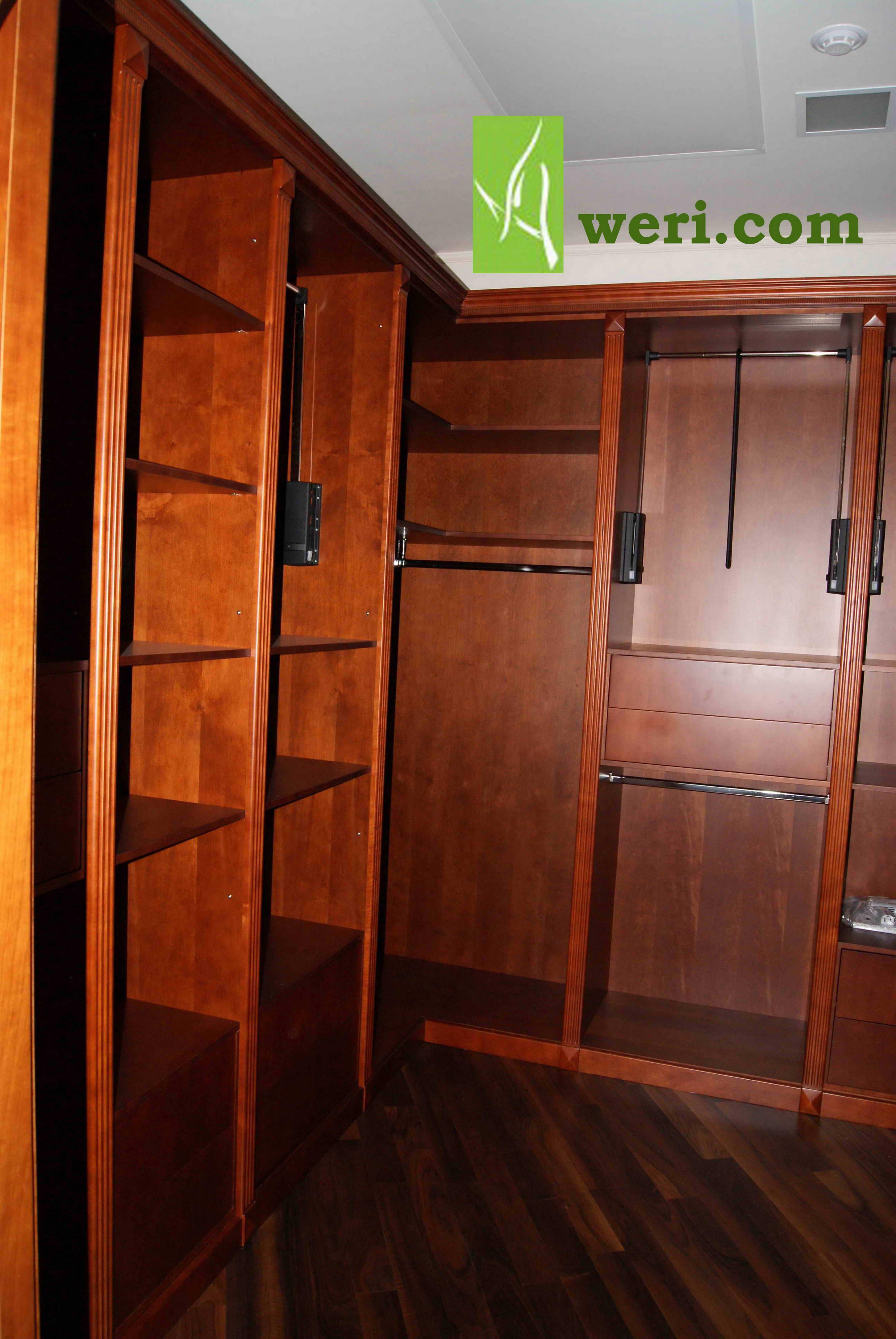 Гардеробные комнаты шпонированные от Aweri Гардеробные Классика - Доступная Роскошь