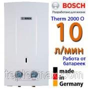 Газовая колонка BOSCH Therm 2000 O W10 KB (НОВИНКА, 10 л. в мин. , розжиг от батареек)