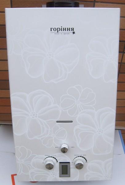 Газовая колонка «Горіння» Cold blate flower 10L Lcd