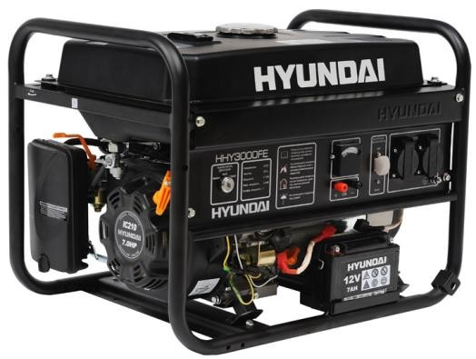 Генератор бензиновый HYUNDAI HHY 3000FE 3 кВт однофазный