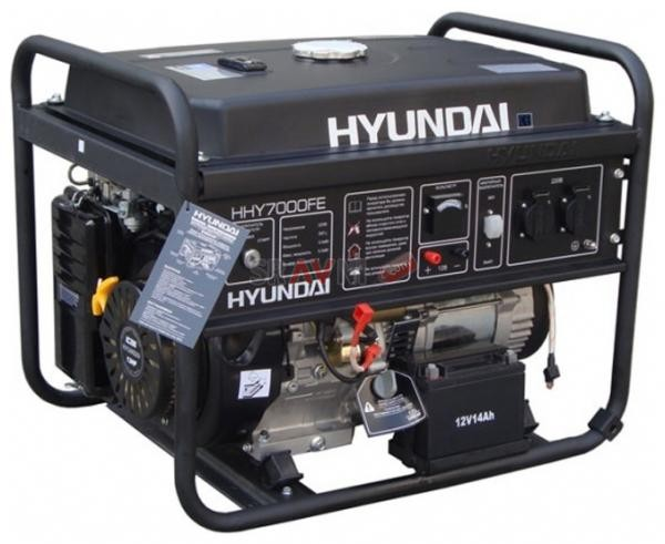 Генератор бензиновый HYUNDAI HHY 7000FE 5,5 кВт