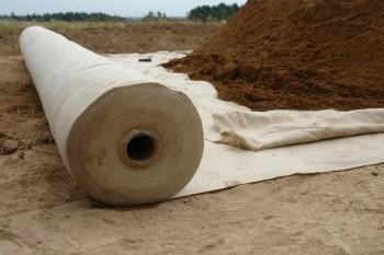 Геотекстиль иглопробивной. Плотность 100г/м. кв. Размер рулона 1,6х30м, и 2,1х30м. Доставка по Украине.