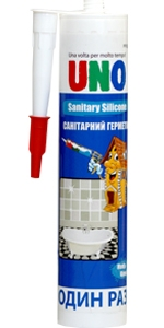 Герметик силиконовый санитарный UNO SANITARY SILICONE (белый, прозрачный)