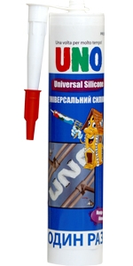 Герметик силиконовый универсальный UNO UNIVERSAL SILICONE (белый , прозрачный)