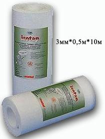 Гибкая изолирующая лента Isotap 3мм * 0,5м * 10м (Утеплитель Изотап)