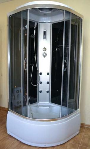 Гидробокс AquaStream 110 HB 100х100х217 Гидромассаж, массаж ног, верхний и ручной душ, зеркало, полочка, смеситель.