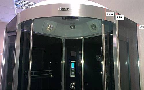 Гидробокс Atlantis AKL-100P 100х100х215см Ручная лейка, верхний душ, полка, вытяжка, подсветка, радио, гидромассаж спины