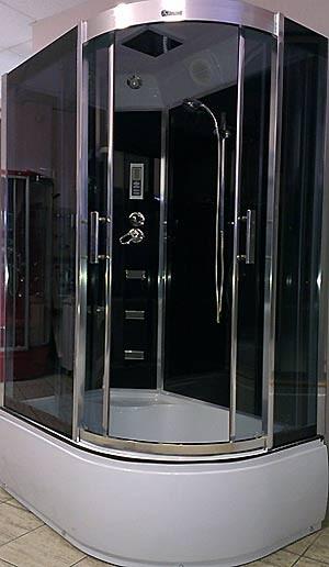 Гидробокс Atlantis AKL-120P 120х80х215см Ручная лейка, верхний душ, полка, вытяжка, подсветка, радио, гидромассаж спины