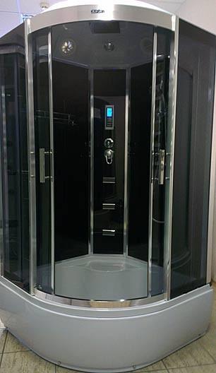 Гидробокс Atlantis AKL-90P 90х90х215 см Ручная лейка, верхний душ, полка, вытяжка, подсветка, радио, гидромассаж спины