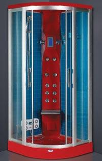 Гидробокс SWD 6802 (90*90*220 см), мел. под. 20 см. , красный