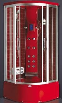 Гидробокс SWD 6803 (100*100*220 см), гл. под. 39 см. , красный